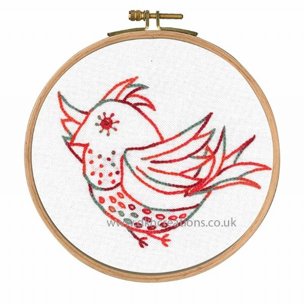 Little Birds Free Spirit Embroidery Hoop Kit